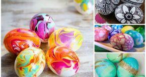 Διαφορετικές τεχνικές για να βάψεις τα πασχαλινά αυγά