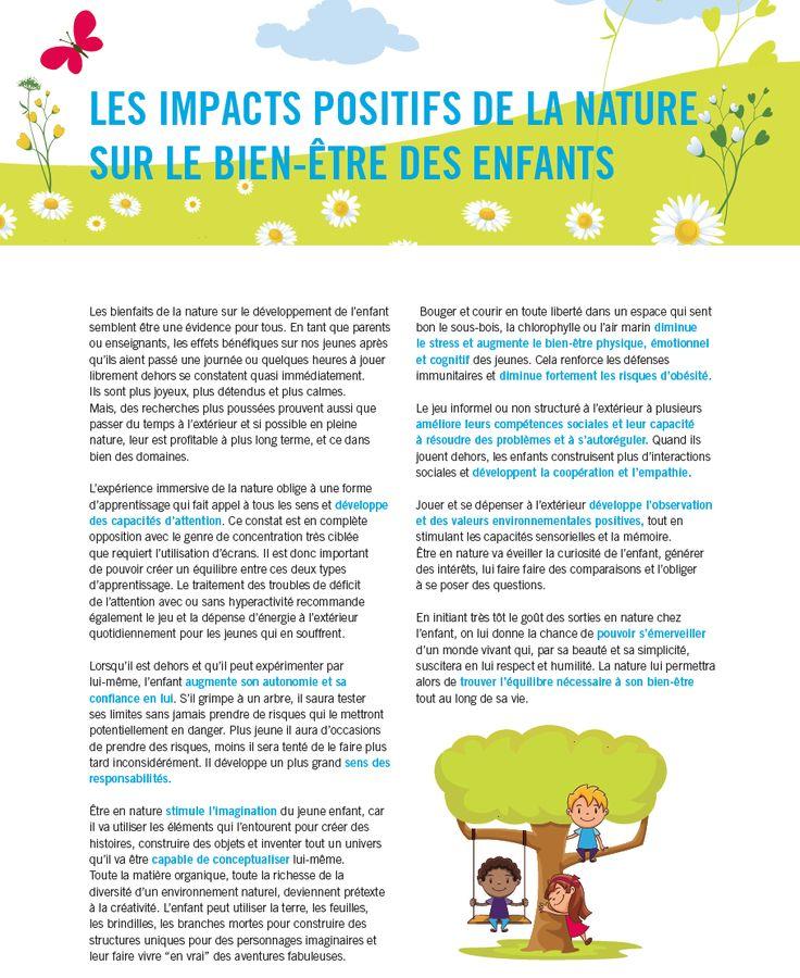 La nature pour le bien-être des enfants!