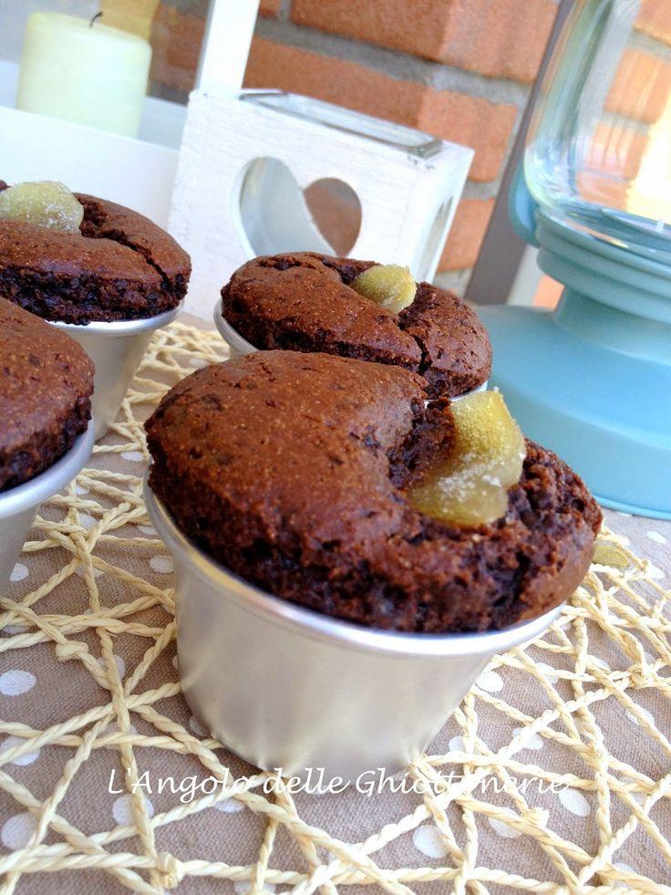 Muffin al farro con cacao. Senza uova - senza burro - senza latte