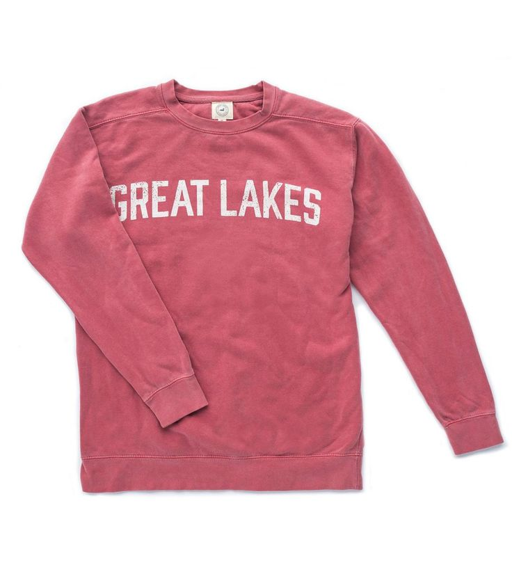 Weathered Crew - Washed Red | Great Lakes
