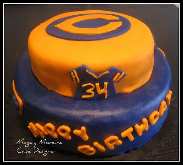 chicago bears cake - Google Search