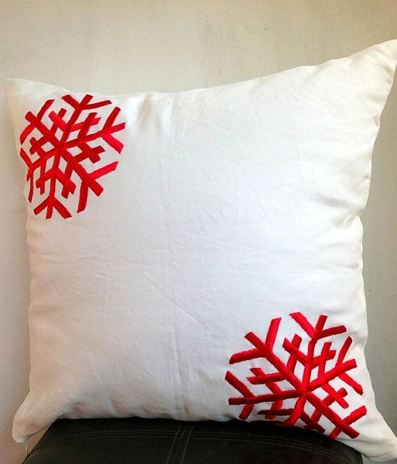 Holiday Sale Snowflakes Christmas Cushion Cover Pillow On Etsy 2400