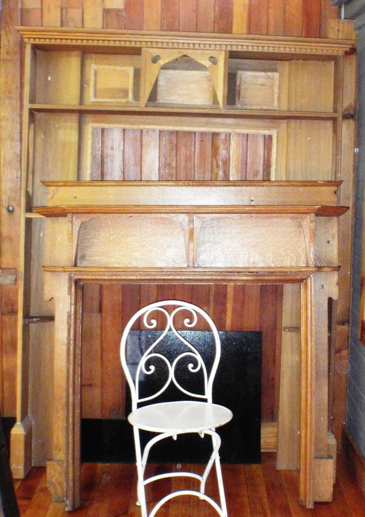 Re-cycled fireplace surrounds.  Wonderful if they fit and even more wonderful that they are re-cycled.