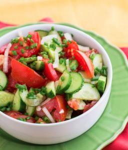 Салат из помидор и огурцов: Фото - Пошаговые рецепты на abCook.ru