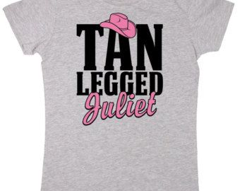 Tan Legged Juliet - Country Music Redneck Romeo Cowgirl Hat Song Title Lyrics Ladies Fitted Tee - Women's T-Shirt E3370
