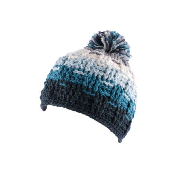 Achetez votre bonnet à pompon Snow dégradé bleu, gris et blanc, tricoté  main et doublé plush, grand choix de bonnets à petits prix , Hatshowroom  boutique