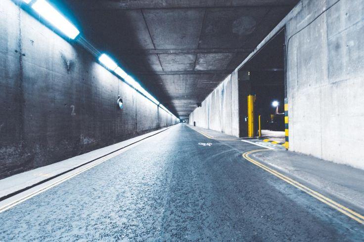 road parking car park car street lights night