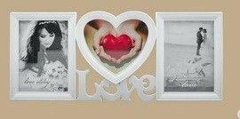 Fali fényképtartó, Love, 3 képhez (képkeret)