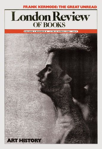 London Review of Books. 2 April 1981. Cover: R. B. Kitaj.