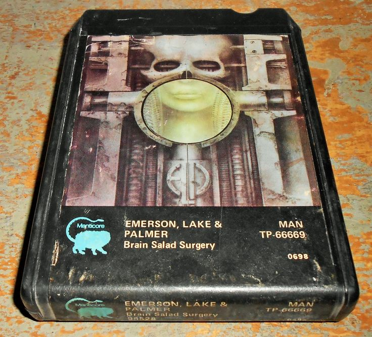 Emerson Lake & Palmer, 8 Track Tape, Brain Salad Surgery, 8 Track Tape Cartridge, Stereo Tape Cartridge, 8 Track, Eight Track by TheBackShak on Etsy