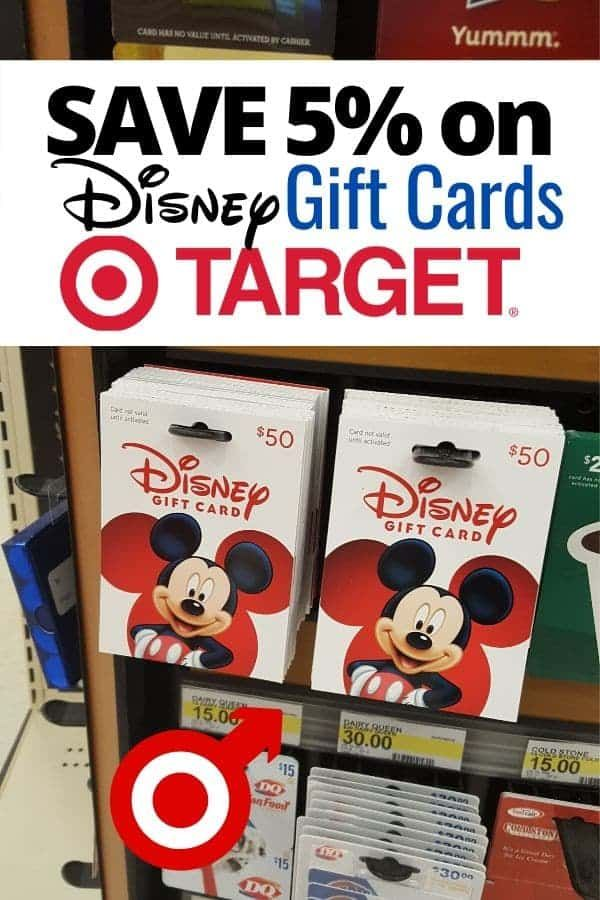 How To Get 5 Off Disney Gift Cards At Target Disney Insider Tips Disney Gift Disney Gift Card Disney Money