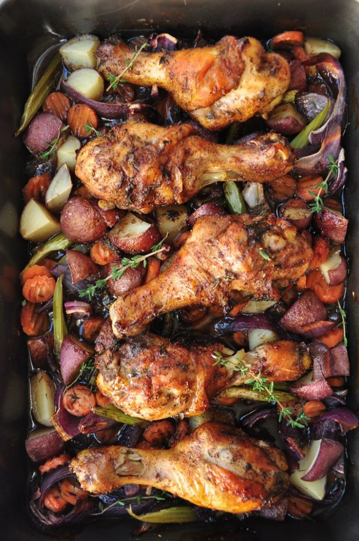 One-Pan Caribbean Jerk Chicken with Vegetables