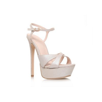 KG Kurt Geiger Champagne 'Heat' high heel sandal- at Debenhams.com