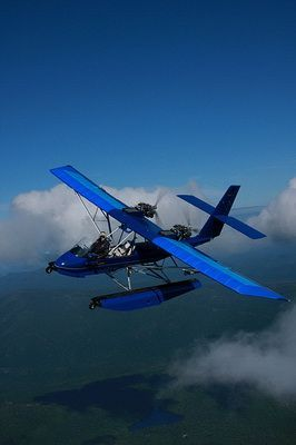 Aircam float plane. Low and slow - out in the open. By far the best way to fly.