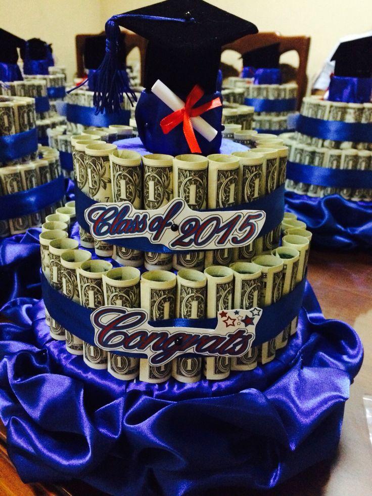 Graduation money cake for boys