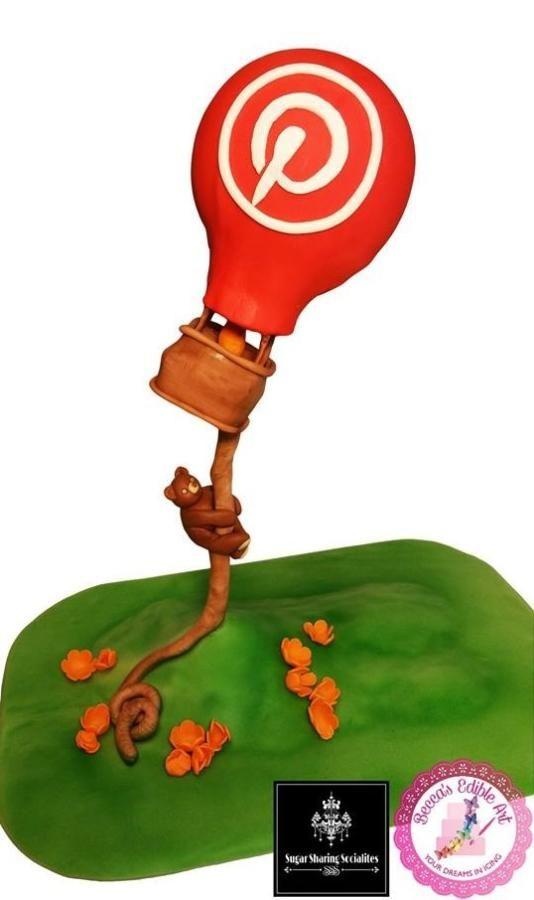 Pinterest Hot Air Balloon Ride SSS Collaboration - Cake by Becca's Edible Art