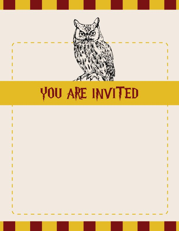 57 Harry Potter Invitation Template Accurate Harry Potter Invitation