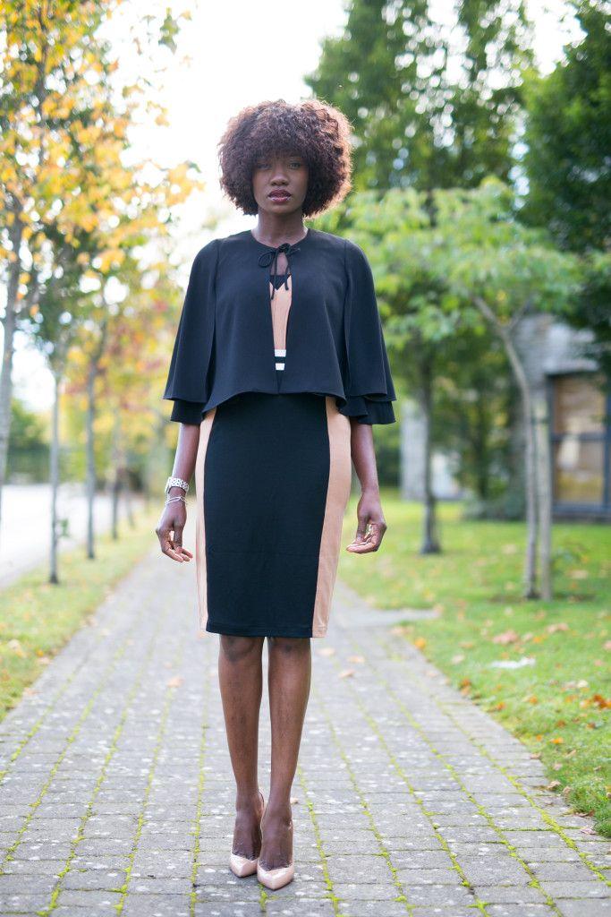 Cape, cape coat, colour block CAPE, DRESS, cape coat, Autumn style
