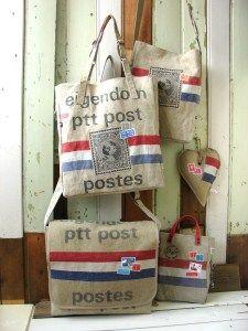 Een simpele tas à la een boodschappentas is ook leuk!
