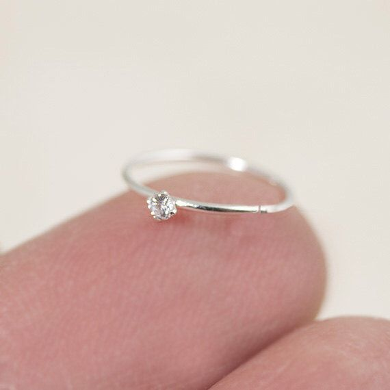 Tiny Nose Hoop, Silver Nose Hoop, Tiny Nose Ring, Tiny Nose Ring, CZ Nose Hoop, Small Nose Hoop, Small CZ Nose Hoop, CZ Nose Ring, by LEMONCAKEJEWELRY on Etsy https://www.etsy.com/listing/483176146/tiny-nose-hoop-silver-nose-hoop-tiny