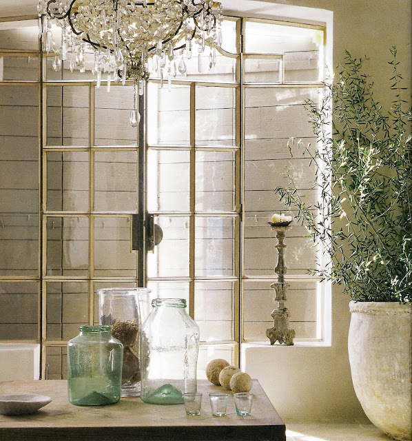 Ironwork by Gilles Giordano, Cannes: Steel Doors, Interiors Design, Antiques Window, Olives Branches, Vintage Interiors, Vignette, Steel Window, Mornings Lights, Sliding Doors