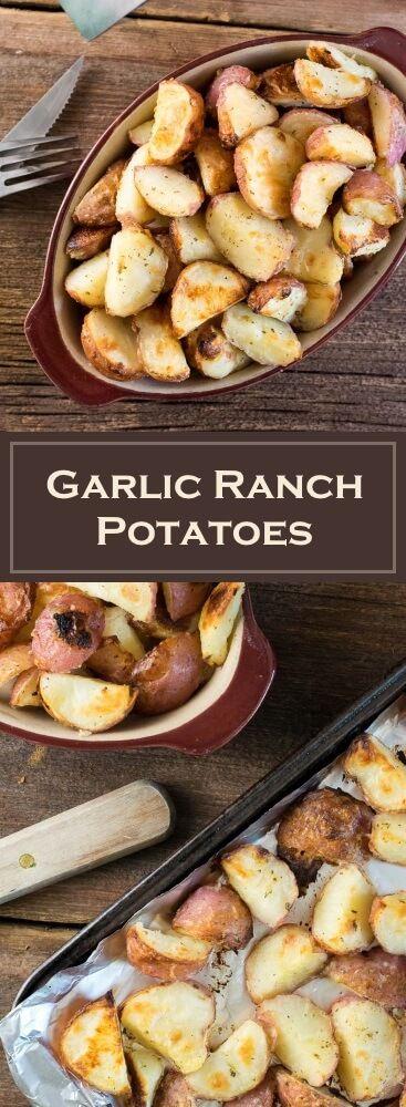 Garlic Ranch Potatoes recipe via @foxvalleyfoodie