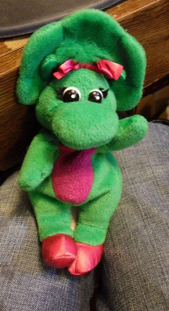 "Vintage 1992 Lyons Group Barney & Friends 14"" Baby Bop Dinosaur Plush Stuffed #LyonsGroup"