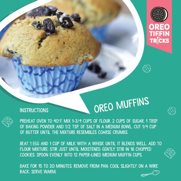 Christmas isn't complete without muffins and Oreos. Get recipes for the season at bit.ly/1XG5Xxd #OreoTiffinTricks
