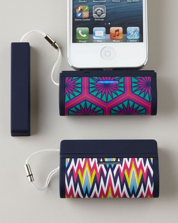 Jonathan Adler on-the-go iphone 5 charger. Cute and clever!