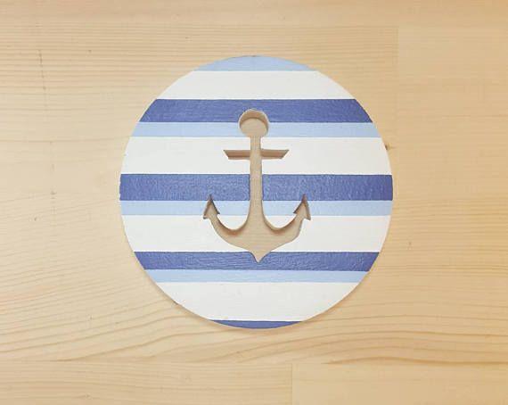 Anchor Wall Art- Check the shop for more great gifts #anchor #anchorwallart #circular #nauticalgift #nautical #giftforhim