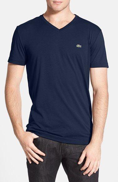 Men's Lacoste Pima Cotton Jersey V-Neck T-Shirt