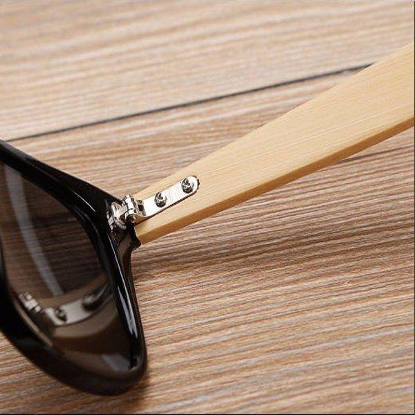 UV400 Retro Classic Sunglasses Outdoor Radiation Protection Glasses Bamboo Wood Legs Eyewear at Banggood