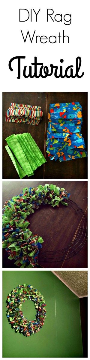 Rag Wreath Tutorial : Fun, easy and frugal! Crafts for kids!