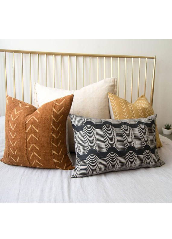 Mudcloth Pillow African Mudcloth Throw Pillow Africa Fabric Boho Pillow African Mud Cloth Tribal Pillow Lumbar Pillow Mud Throw Pillows Pillows Mud Cloth