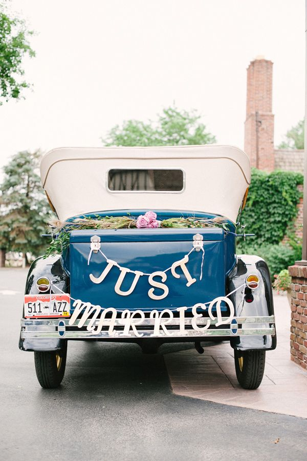 488 Best Sweet Ride Just Married Images On Pinterest Marriage Wedding Cars And Decoration