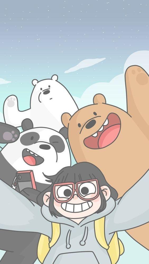 Colección de fondos de pantalla Escandalosos Kawaii Polar, Panda y Pardo para c…