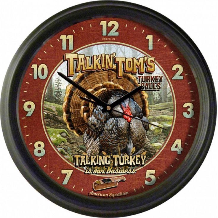 American Expedition Vintage Talkin Toms Turkey Calls Clock