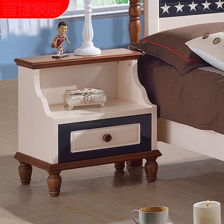 Небольшая детская тумба из массива дерева с большой полкой и одним выдвижным ящиком темно-синего цвета купить в интернет-магазине мебели https://lafred.ru/catalog/catalog/detail/41205528001/