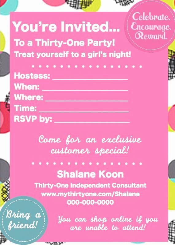 Thirty One Party Invitation Wording Inspirational Items Similar To Thirty E Spri Thirty One Party Party Invitations Printable Birthday Party Invitation Wording