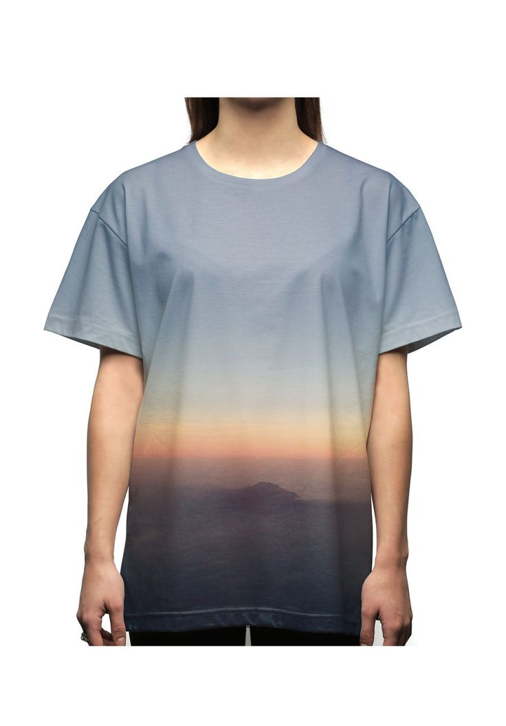 vstefyvs T-Shirt-Oversize Mt. Prau from air view