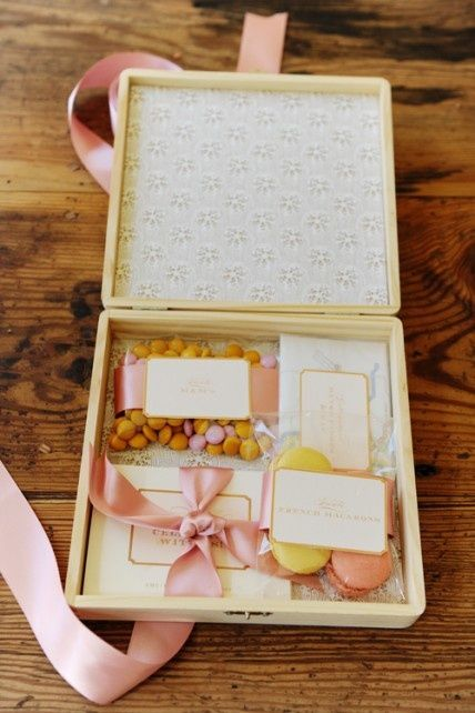 a fancy road trip box for your wedding guests as they head to your wedding