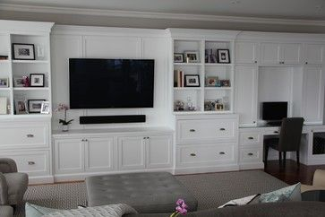 Living Room Decorating Ideas on a Budget  - Built In Basement Entertainment Center Design, Pictures, Remodel, Decor and Ideas - page 20 or family room