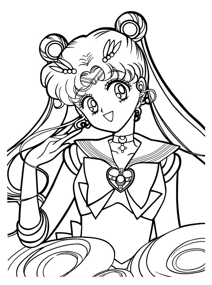 anime coloring pages sailor moon freegif 2300