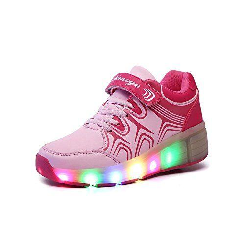 KIPTOP ® Mädchen Jungen Kinder LED Leuchtet Sneakers mit einem Cooly Roller Skateboard Schuhe - http://on-line-kaufen.de/kiptop/kiptop-maedchen-jungen-kinder-led-leuchtet-mit