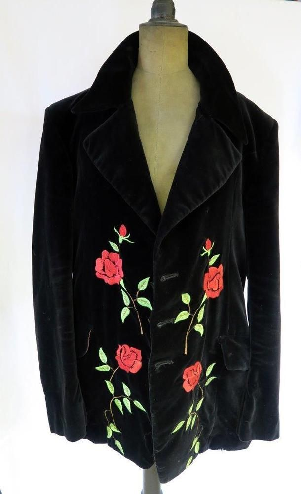 Granny Takes A Trip Authentic 1960s Mens Velvet Jacket Worlds End Store, Chelsea. Early red Label