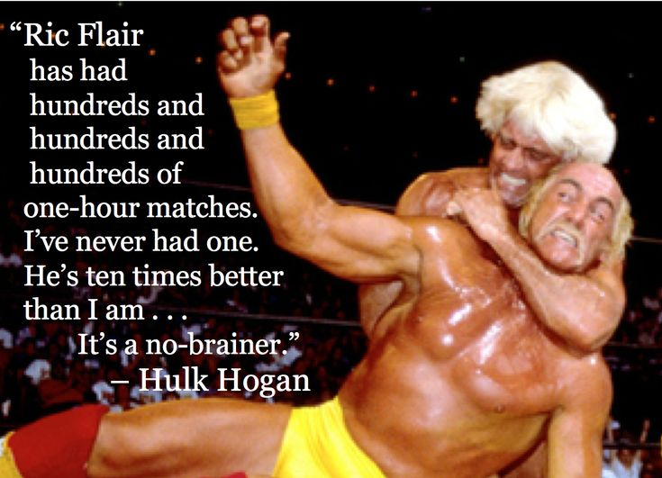 """[Ric Flair]'s ten times better than I am"" --Hulk Hogan [1335  964]"