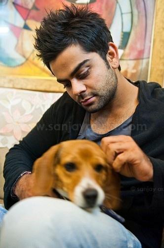 fun time with his     dog - virat-kohli Photo