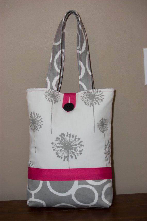 Large Handmade Fabric Tote Bag