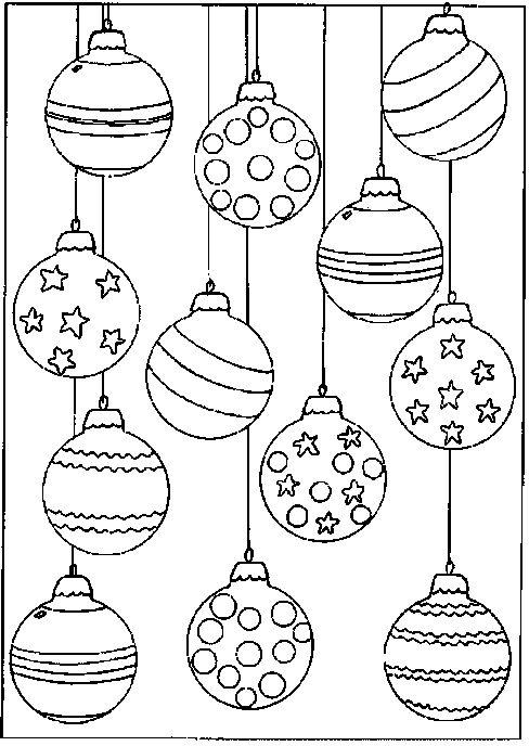 Kerstballen om te kleuren!