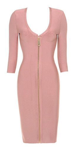 Niamh Rose Pink Bandage Dress